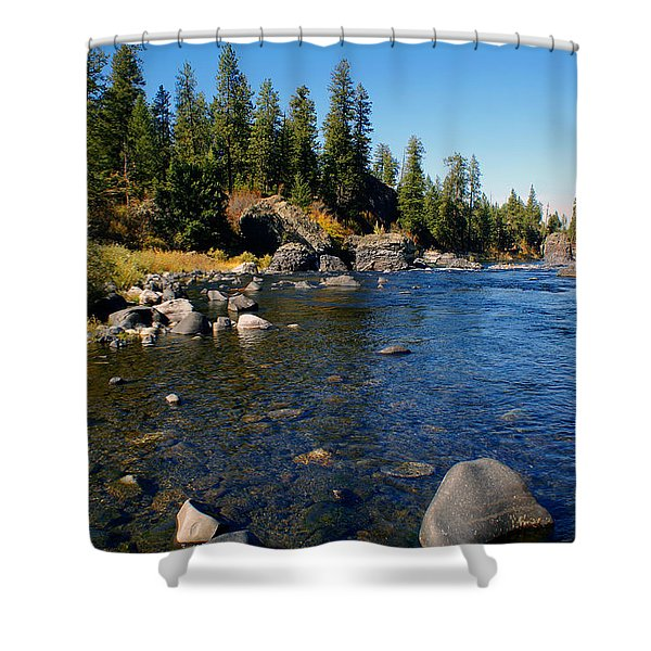 Peace On The Spokane River 2 Shower Curtain