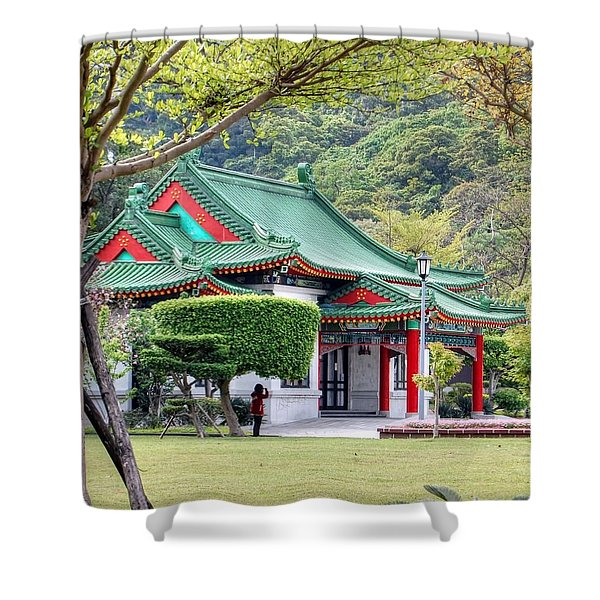 Peaceful Easy Taiwan Shower Curtain