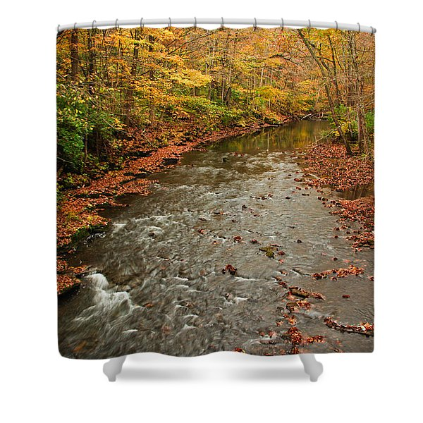 Peaceful Fall Shower Curtain