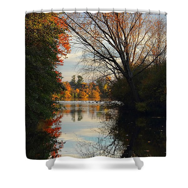 Peaceful October Afternoon Shower Curtain