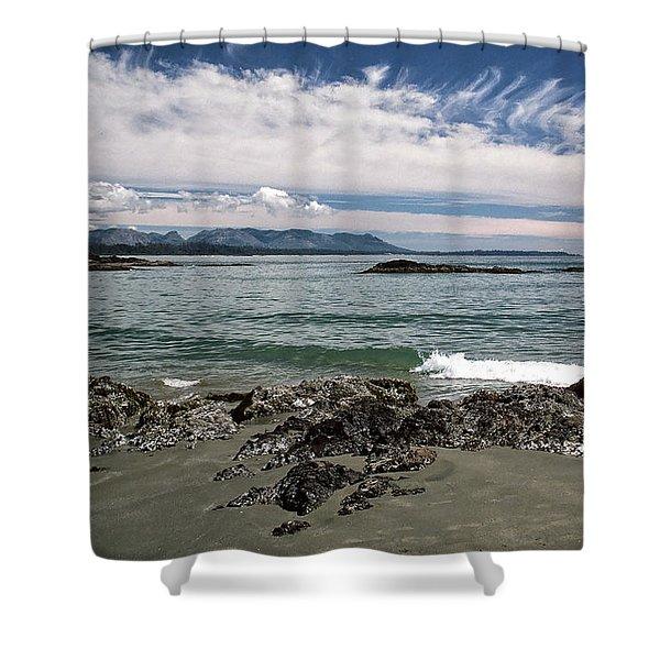 Peaceful Pacific Beach Shower Curtain