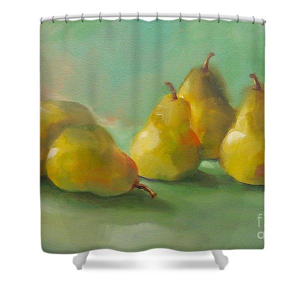 Peaceful Pears Shower Curtain