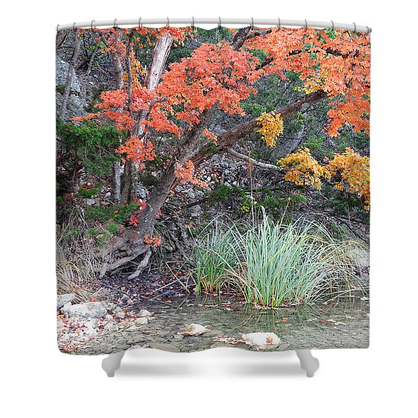 Peaceful Retreat Lost Maples Texas Hill Country Shower Curtain