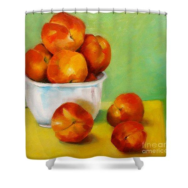 Peachy Keen Shower Curtain