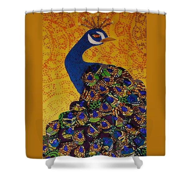 Peacock Blue Shower Curtain