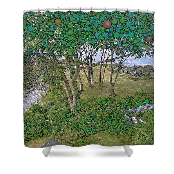 Dawn At Peaks Island Bay Shower Curtain