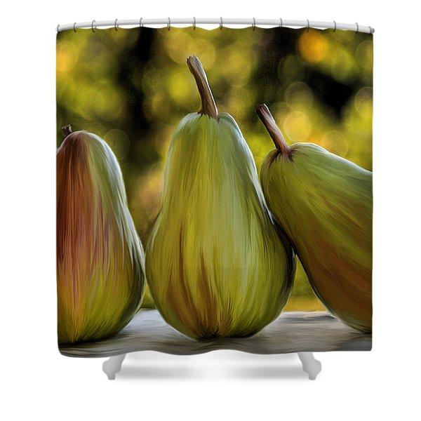 Pear Buddies Shower Curtain