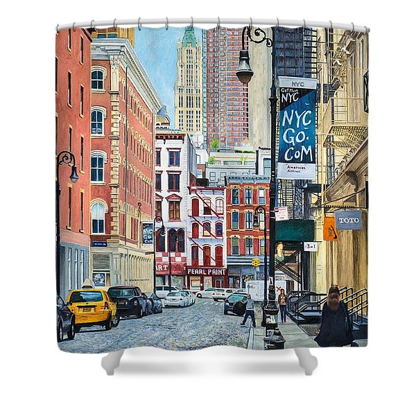 Pearl Paint Canal St. From Mercer St. Nyc Shower Curtain