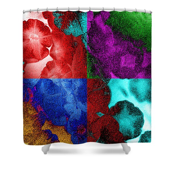 Pearlescent Posies Shower Curtain
