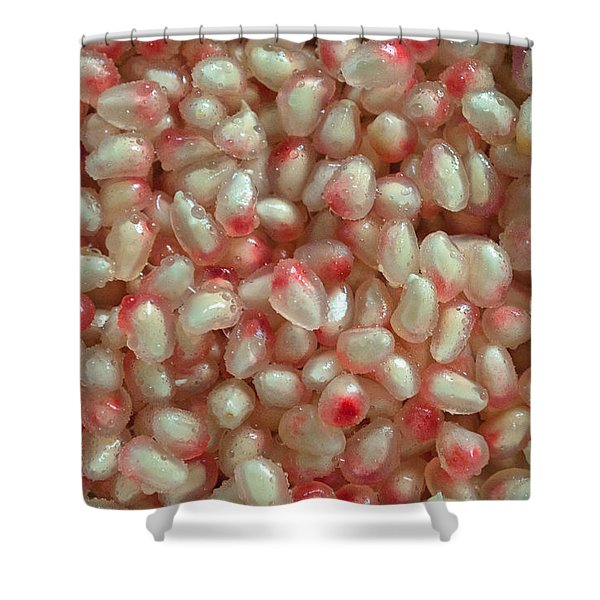 Pearly Pomegranate Seeds Shower Curtain
