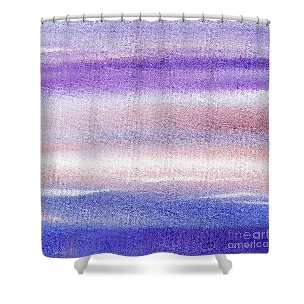 Pearly Sky Abstract II Shower Curtain