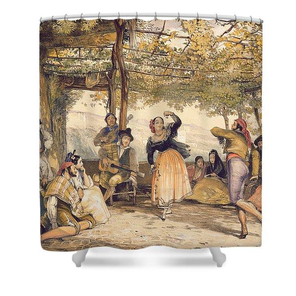 Peasants Dancing The Bolero Shower Curtain