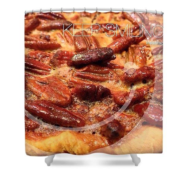 Pecan Pie - Baking On Thanksgiving Eve Shower Curtain