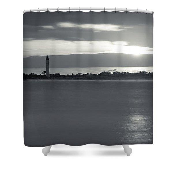 Peeking Through The Clouds Bw Shower Curtain