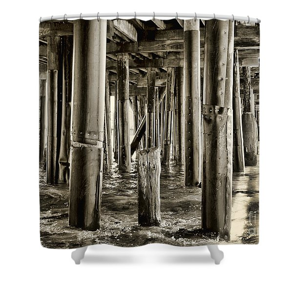 Peeking Under The Pier By Diana Sainz Shower Curtain