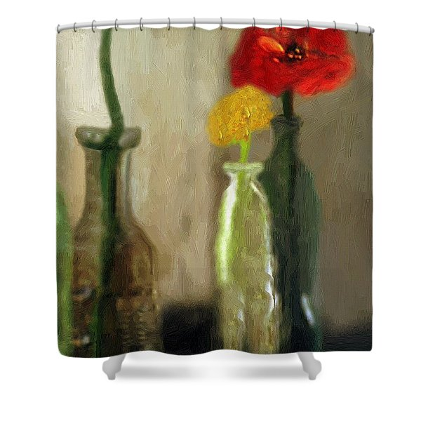 Peggy's Flowers Shower Curtain