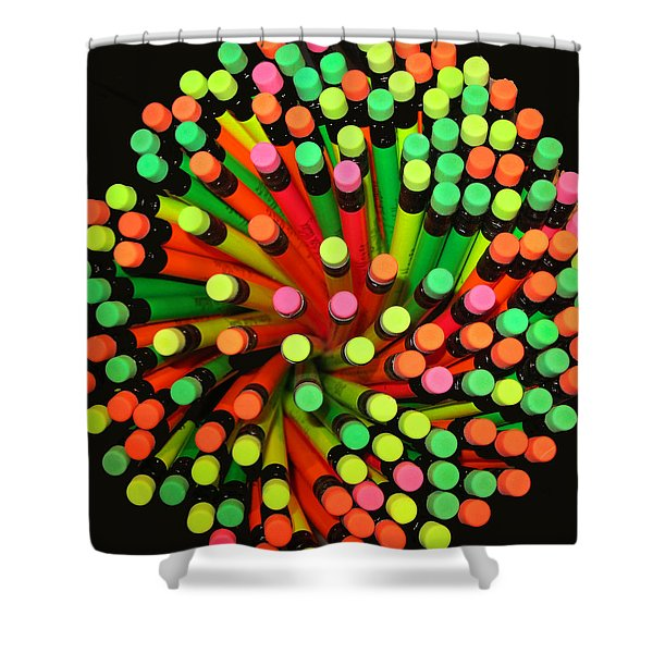 Pencil Blossom Shower Curtain