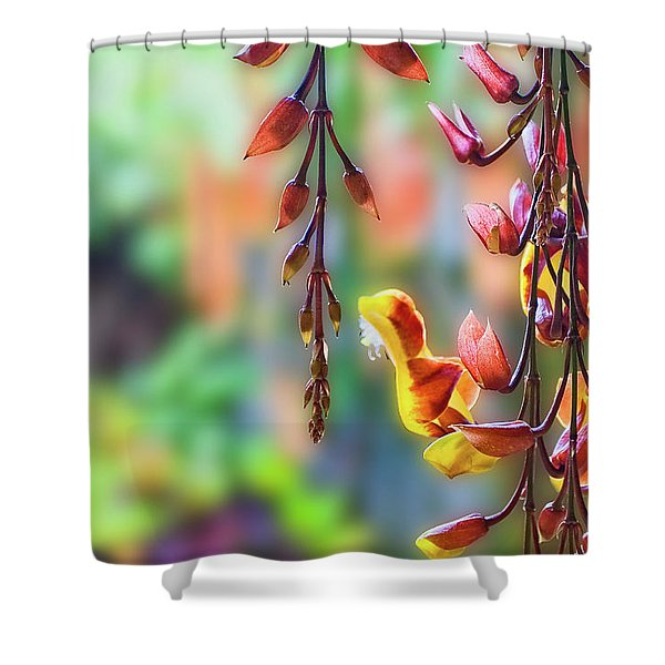 Pending Flowers Shower Curtain