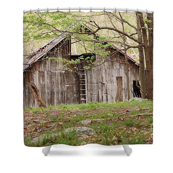 Pendleton County Barn Shower Curtain