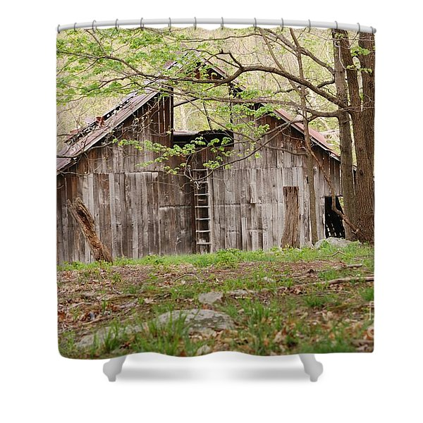Pendleton County Barn Shower Curtain