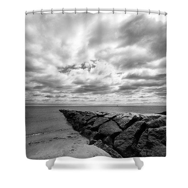 Penfield Beach Jetty Shower Curtain