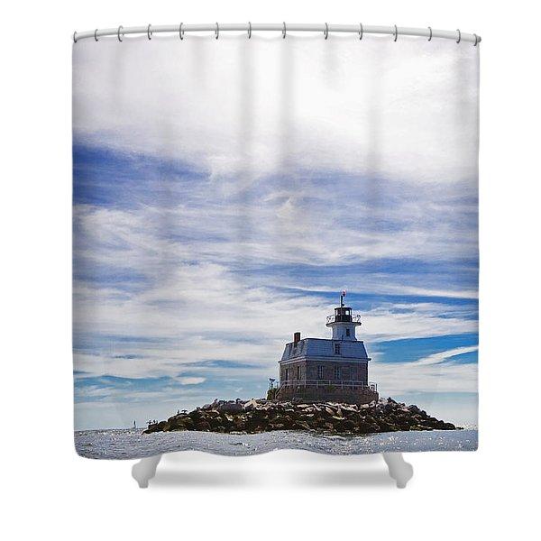 Penfield Reef Lighthouse Fairfield Connecticut Shower Curtain
