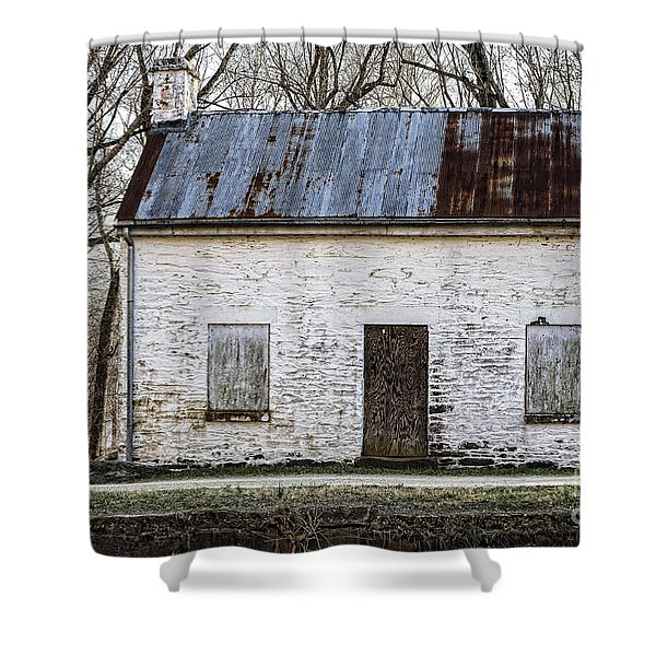 Pennyfield Lockhouse On The C And O Canal In Potomac Maryland Shower Curtain