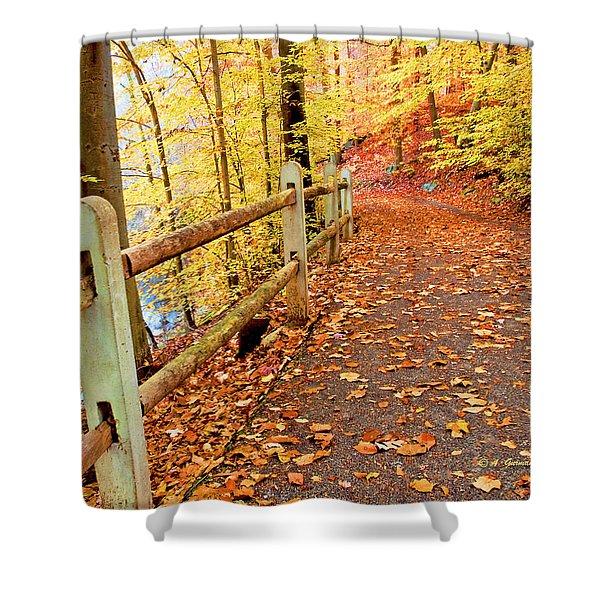 Pennypack Trail Philadelphia Fall Shower Curtain