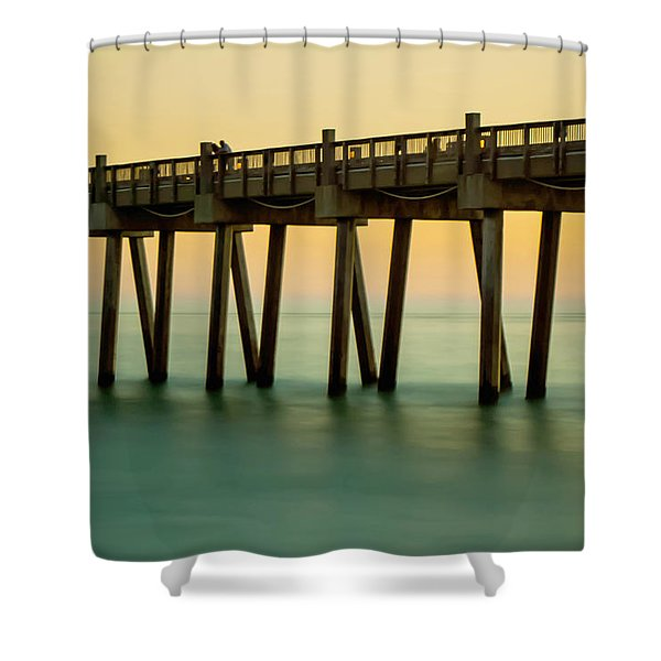 Pensacola Beach Fishing Pier Shower Curtain