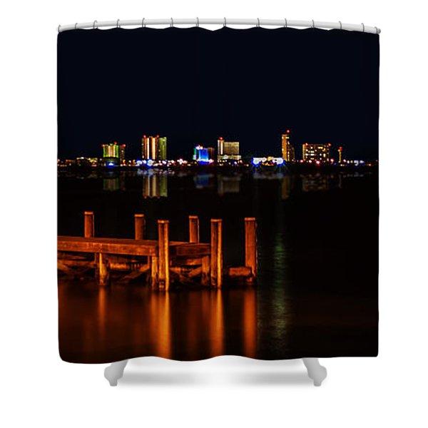 Pensacola Beach Reflections Shower Curtain