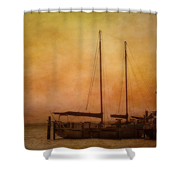 Pensacola Harbor Shower Curtain