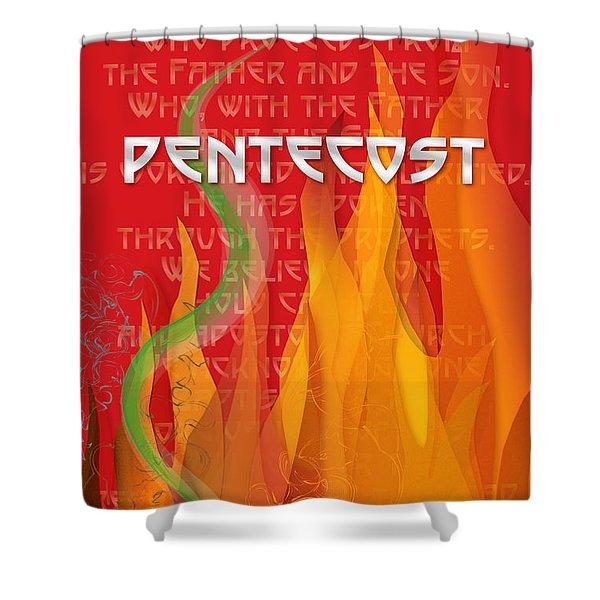 Pentecost Fires Shower Curtain
