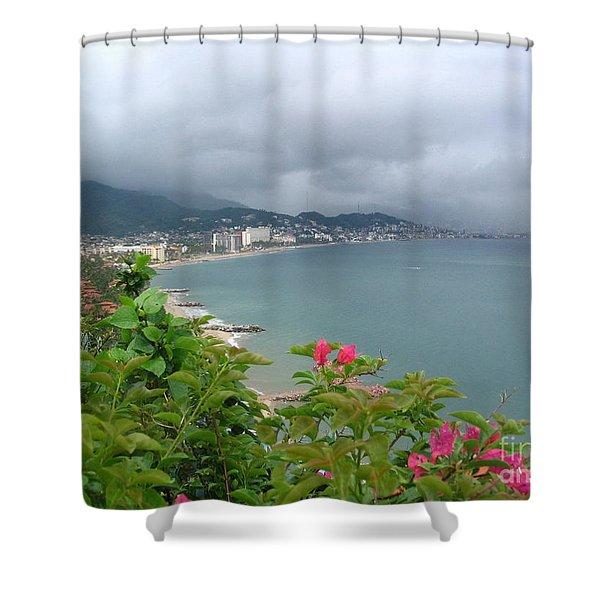 Penthouse View - Puerto Vallarta Shower Curtain