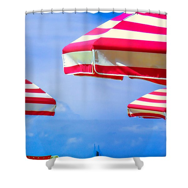 Peppermint Beach Shower Curtain