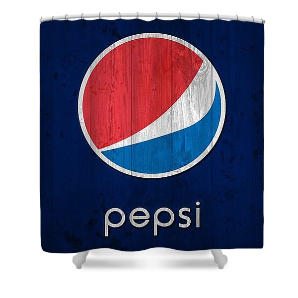 Pepsi Barn Sign Shower Curtain
