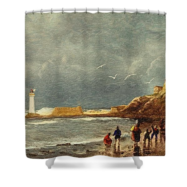 Perch Rock - New Brighton 1829 Shower Curtain