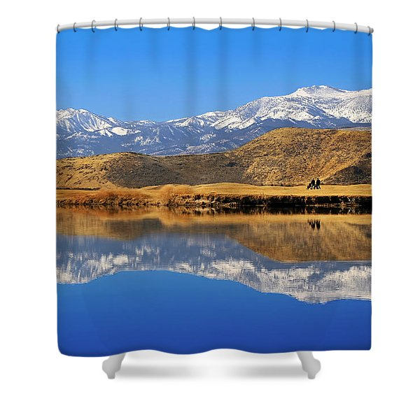 Perfect Day For Golf  Shower Curtain