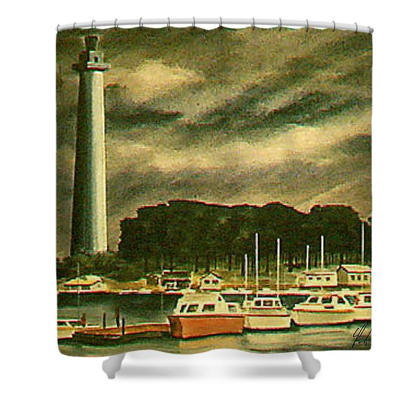 Perrys Monument On Put In Bay Shower Curtain