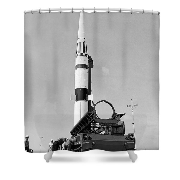 Pershing Missile Ready To Fire Shower Curtain