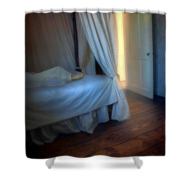 Person In Bed Shower Curtain
