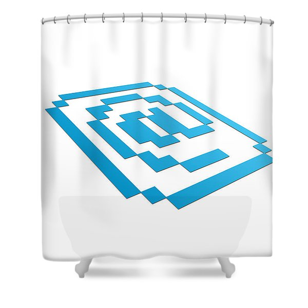 Perspective Email Sign Shower Curtain