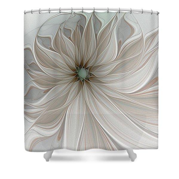 Petal Soft White Shower Curtain