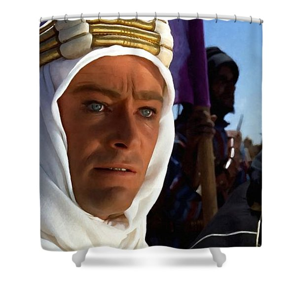 Peter Otoole And Omar Sharif In Lawrence Of Arabia Shower Curtain