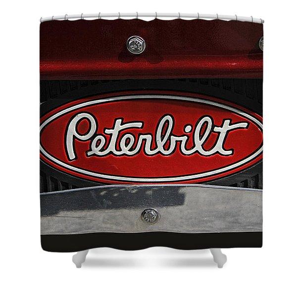 Peterbilt Emblem Mud Guard Shower Curtain