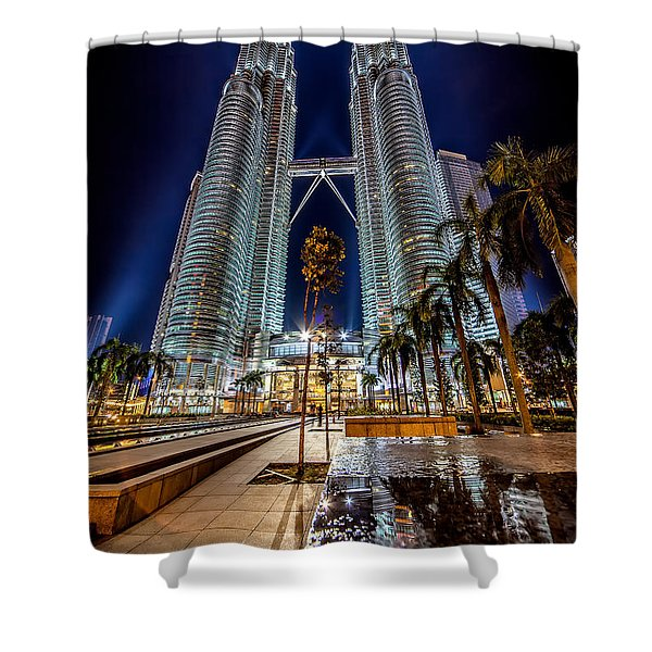 Petronas Twin Towers Shower Curtain