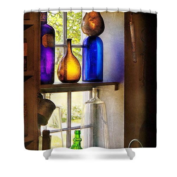 Pharmacy - Colorful Glassware  Shower Curtain