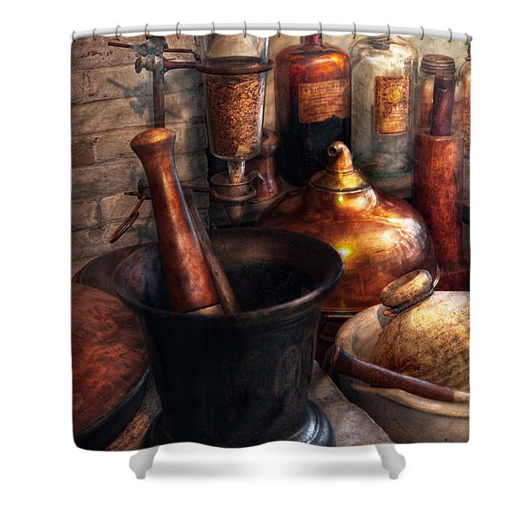 Pharmacy - Pestle - Pharmacology Shower Curtain