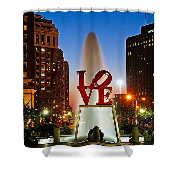 Philadelphia Love Park Shower Curtain