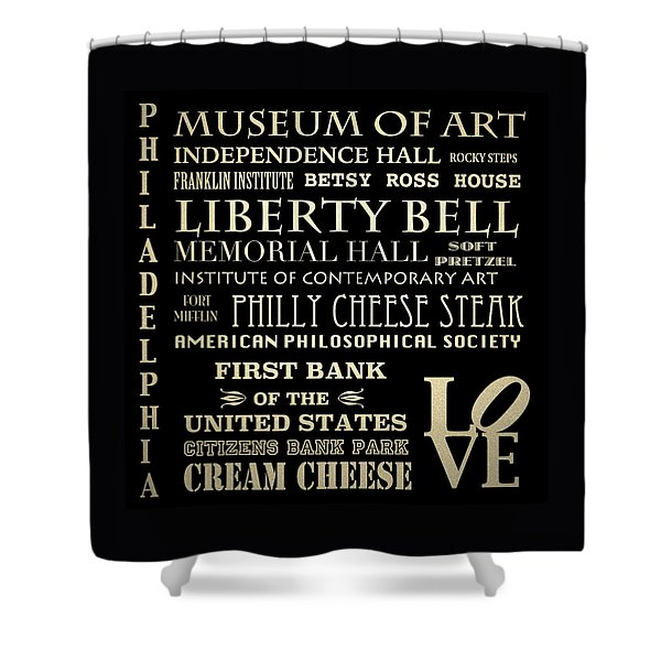 Philadelphia Pennsylvania Famous Landmarks Shower Curtain