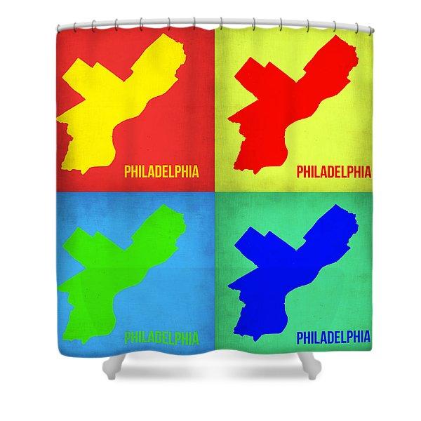 Philadelphia Pop Art Map 1 Shower Curtain